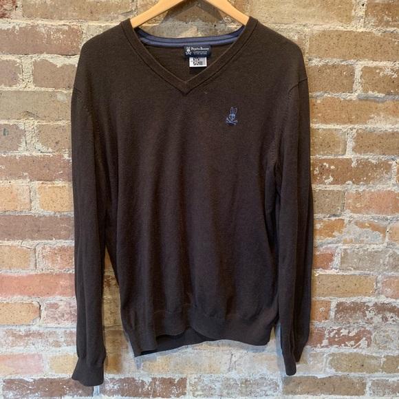 Psycho Bunny Mens V-Neck Sweater